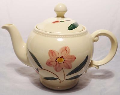 Lovely Shawnee Pottery Pink Flower Floral Teapot