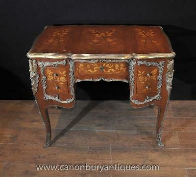 Antique Louis XV Knee Hole Desk Writing Table Bureau 1920