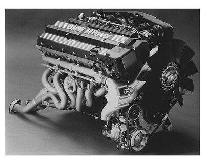 1992 BMW M5 Engine Automobile Photo Poster zch8728