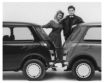 1988 Austin Minis Limited Edition Red Hot & Jet Black Photo Poster zch8799