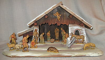 "Anri Nativity 3"" Set with 17 Pieces and Creche"