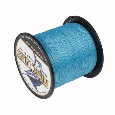 4 & 8 Strands 100M 300M 500M 1000M Blue Extremely Strong PE Braided Fishing Line