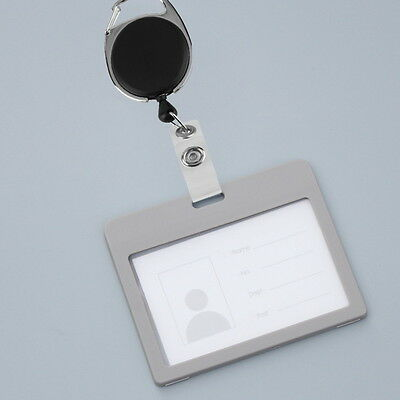 New Retractable Reel Pull Key ID Card Badge Tag Clip Holder Carabiner Style GU