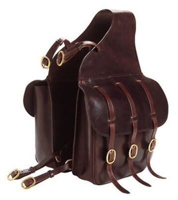 Ekkia norton buffalo leather horse riding saddle bag panniers