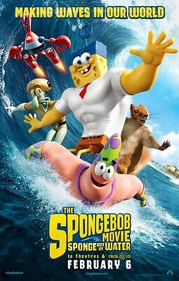 Spongebob 2 Sponge Out of Water - original DS movie poster - D/S 27x40 Adv B