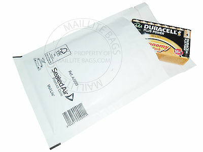 25 x Mail Lite Bubble Lined Mailer Size A/000 White Padded Mailing Envelope Bag