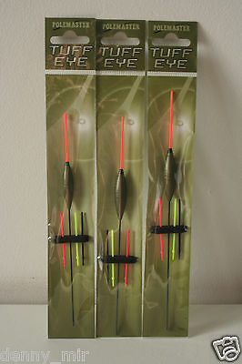 Drennan Polemaster Tuff Eye 1 Pole Floats Set Of 3 Pieces Different Sizes