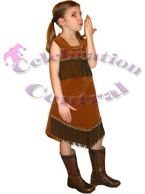 Indian Squaw Pocahontas Style Girls Fancy Dress Costume Age 7-8 Years