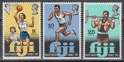 Fiji 1971 ** Mi.292/94 Sport Basketball Gewichtheben Weight Lifting [sq6680]