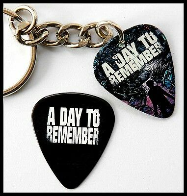 A DAY TO REMEMBER - Guitar Pick Keyring Two Sided