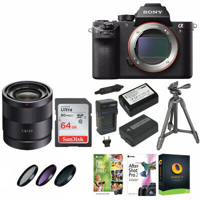 Sony Alpha a7RII Mirrorless Digital Camera (Body) Bundle with 24mm f/1.8 ZA Lens