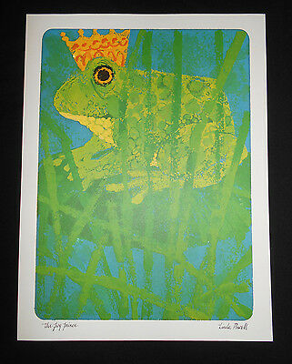 Vtg New Current THE FROG PRINCE Fairy Tale Print Linda Powell Children's Grimm
