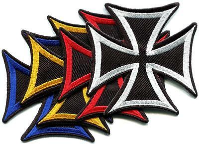 Lot of 4 German Iron Cross military medal WW2 war biker iron-on applique patches