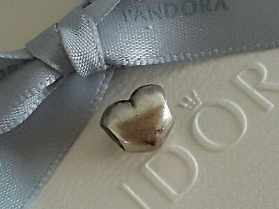 "Authentic Sterling Silver PANDORA ALE 925 ""Heart Charm"" (790137)"