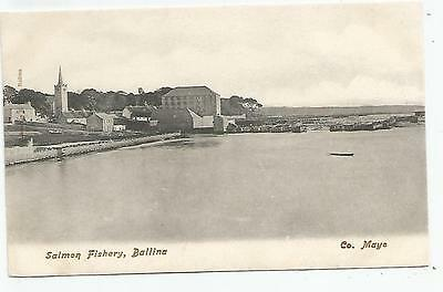 irish postcard ireland mayo ballina salmon fishery