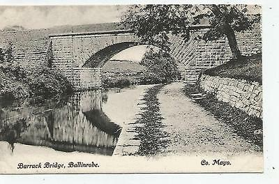 irish postcard ireland mayo ballinrobe barrack bridge