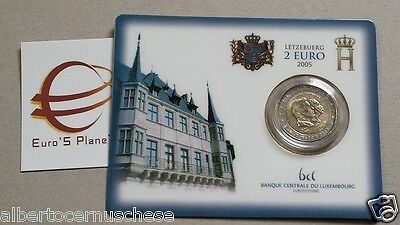 Coin card 2 euro 2005 Henri Adolphe Lussemburgo Luxemboug Luxembourg Люксембург