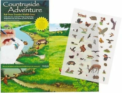 New Countryside Adventure River Animals Rub Down Transfer Activity Pack. Westair