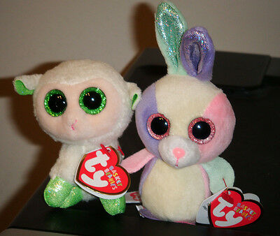 "Ty 2015 Easter Basket Beanies Set ~ BLOOM & LALA 3-4"" (Small) ~ MWMTS ~ IN HAND"