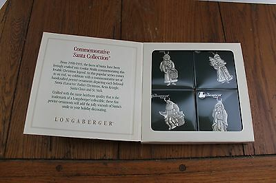Longaberger Pewter Christmas Ornaments Commemorative Santa Collection