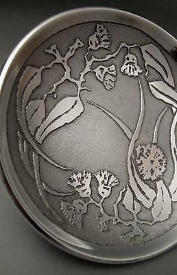 Signed Don Sheil Flowering Gum Leaf Dish - Sheil Abbey - Gumleaf Australiana 3