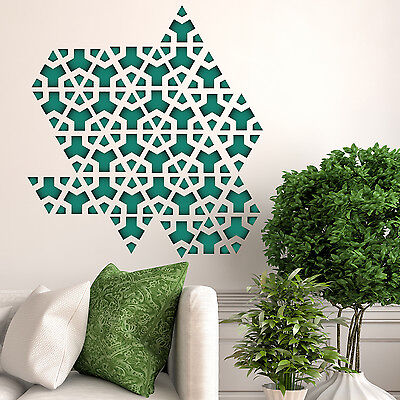 Triangle Pattern Geometry Wall Stickers Mural Home Decal Art Green 61cm x 65cm