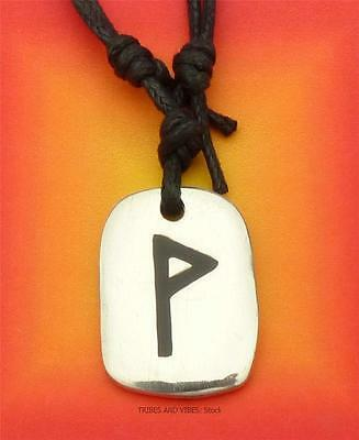WUNJO Rune Pendant adjustable Necklace for BLISS SUCCESS 2sides pagan futhark