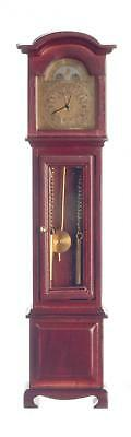 Melody Jane Dolls Houses 1:12 Wooden Working Mahogany Grandfather Clock