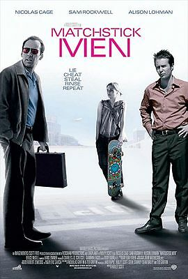 Matchstick Men - original DS movie poster - 27x40 D/S - Rockwell, Cage