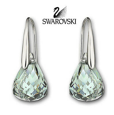 Swarovski Crystal Sapphire Color Water Droplets Earrings LUNAR #1035229 New