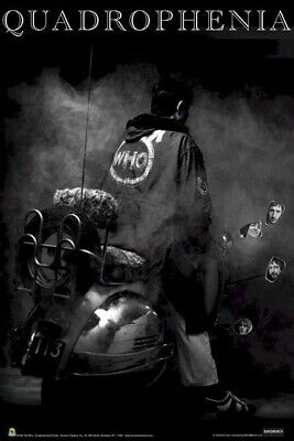 THE WHO ~ QUADROPHENIA MIRRORS 24x36 MUSIC POSTER Movie Townshend Motorcycle