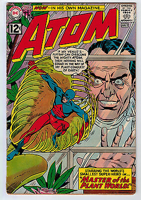 Atom #1 2.0 1962 Autographed Kane/anderson/schwartz Tv Show Tan Pages Silver Age