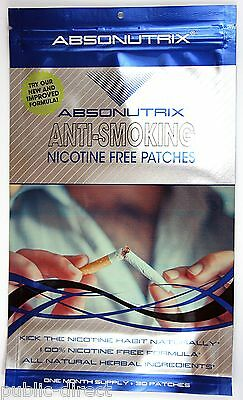 Anti-Smoking Natural STOP SMOKING PATCH Patches Quit NON No Nicotine Absonutrix