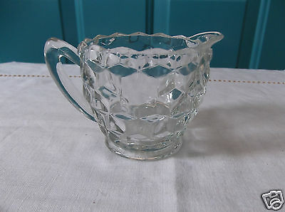 Jeannette Cubist Clear Depression Glass Creamer