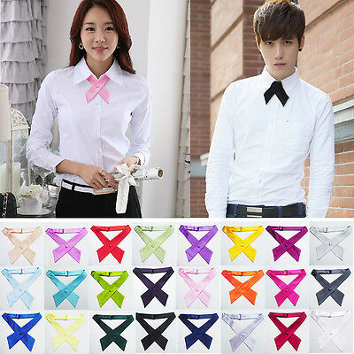 Newest Hot Unisex Emcee Waiter Solid Color Bow Tie Necktie Knot Collar Wedding