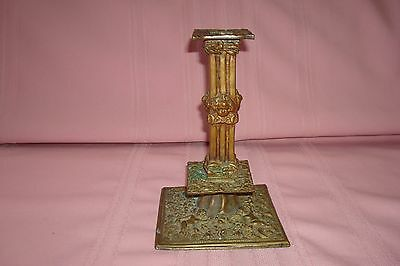 Antique French Art Nouveau Solid Bronze Candlestick/Holder Very Ornate