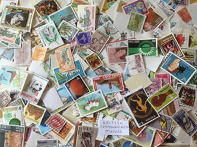100 Grams British  Commonwealth off paper Mixture over 1000 stamps