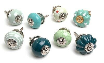 Shabby Chic Ceramic Cupboard Knobs Kitchen Door Knob Drawers Pulls (MG-130)