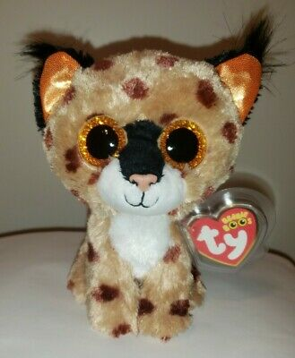 Ty Beanie Boos ~ BUCKWHEAT the Lynx (6 Inch) NEW MWMT