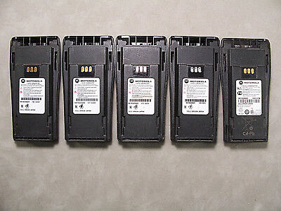 Five Motorola NNTN4496AR NiCd Batteries w/Belt Clips CP200 PR400