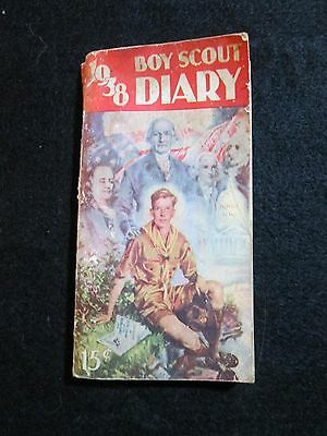 Vintage used 1938 Boy Scout Diary