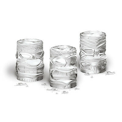 Tovolo Tiki Ice Mold Cocktails set of 3, Incredibly Detailed Tiki Shapes