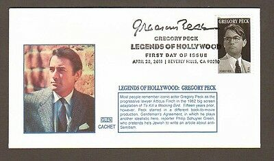 2011 Gregory Peck ~ Legend Of Hollywood ~ Glen #1 Fdc