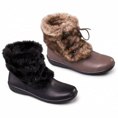 3cc07878af2 PADDERS TANYA LADIES Womens Leather E/EE Wide Fit Side Zip Ankle ...