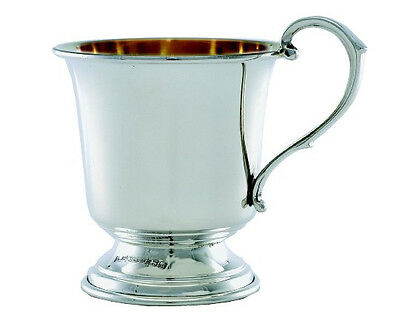 Solid Silver Christening Cup.  English Made Hallmarked Silver Christening Mug