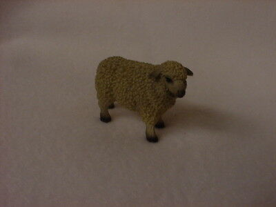 WHITE SHEEP Figurine TiNY HAND PAINTED MINIATURE Mini Farm Collectible ANIMAL