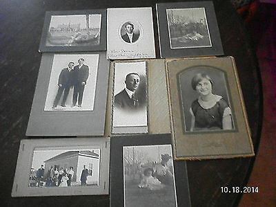 8 VINTAGE PORTAITS FROM EARLY 1900'S  .....BLACK & WHITE PHOTO ...#3