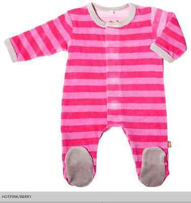 Magnificent Baby - Hot Pink / Berry Velour Footie 6 Months NWT R$34.99
