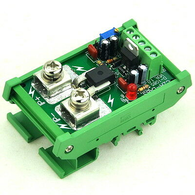 DIN Rail Mount +/-50Amp AC/DC Current Sensor Module, based on ACS758
