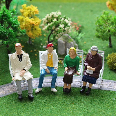 P2517 10pcs G scale Figures 1:22.5-1:25 All Seated  Painted People Model Railway